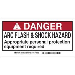 Brady - 103531 - Arc Flash Protection Labl, 2inHx4inW, PK10