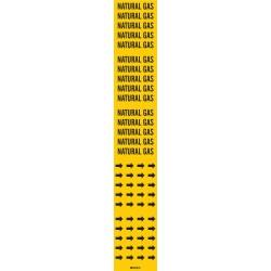 Brady - 105806 - Pipe Marker, 2-1/4H, 2-3/4W, PK3