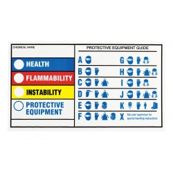 Brady - 60334 - Brady 4 X 7 Black Polyester Hmig Tape Health Flammability Reactivity Protective Equipment, ( Package )