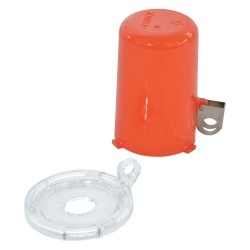 Brady - 130819 - Push Button Lockout, Fits Button Dia. 16.0mm, Plastic, Red