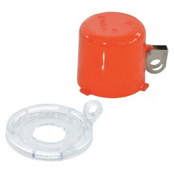 Brady - 130820 - Push Button Lockout, Fits Button Dia. 22.0mm, Plastic, Red