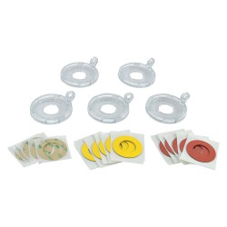 Brady - 130823 - Push Button Lockout Base, Fits Button Dia. 22.0mm, Plastic, Clear