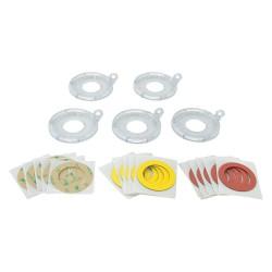 Brady - 130824 - Push Button Lockout Base, Fits Button Dia. 30.0mm, Plastic, Clear