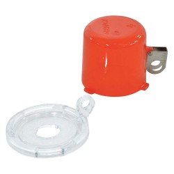 Brady - 134018 - Push Button Lockout, Fits Button Dia. 16.0mm, Plastic, Red