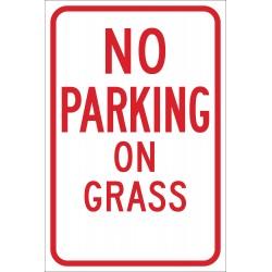 Brady - 103692 - Parking, No Header, Aluminum, 18 x 12, High Intensity Prismatic
