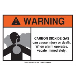 Brady - 106022 - Chemical, Gas or Hazardous Materials, Warning, Fiberglass, 10 x 14, With Mounting Holes