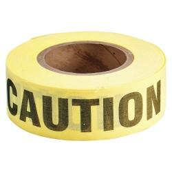 Brady - 91082 - Brady 2 X 50 Yd Black/Yellow Cotton Biodegradable Barricade Tape CAUTION, ( Roll )