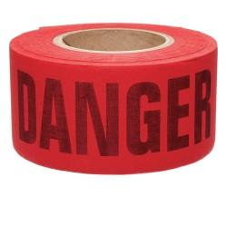 Brady - 91085 - Brady 3 X 50 Yd Black/Red Cotton Biodegradable Barricade Tape DANGER DO NOT ENTER, ( Roll )