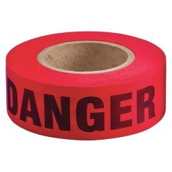 Brady - 91086 - Brady 2 X 135' Black/Red Cotton Biodegradable Barricade Tape DANGER, ( Roll )