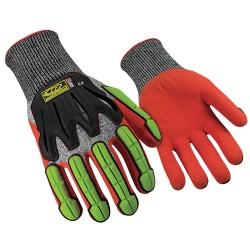 Ringers Gloves - 065-10 - Cut Resistant Gloves, L, Black/Hi-Vis, PR