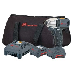 Ingersoll-Rand - W1110-K2 - Ingersoll-Rand IRW1110-K2 1/4 12V Hex Quick Change Cordless Impact Wrench 2 Battery Kit Charger