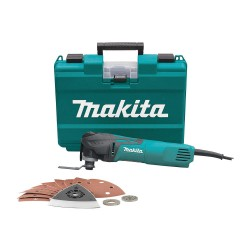 Makita - TM3010CX1 - Makita TM3010CX1 Powerful 3 AMP Oscillating Variable-Speed Multi-Tool Kit w/ Case, Bag, and Accessories