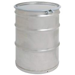 Skolnik - SL5502 - 55 gal. Silver 304 Stainless Steel Open Head Transport Drum