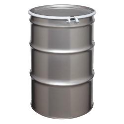 Skolnik - ST5507 - 55 gal. Silver 304 Stainless Steel Open Head Transport Drum
