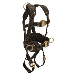 Falltech - G8081M - Arc Flash Belted Full Body Harness with 425 lb. Weight Capacity, Black, M