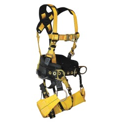 Falltech - G7042S - Tower Climber Full Body Harness with 425 lb. Weight Capacity, Yellow, S