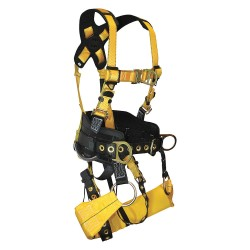 Falltech - G7042L - Tower Climber Full Body Harness with 425 lb. Weight Capacity, Yellow, L