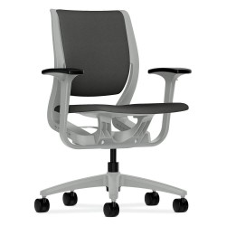 HON - HR1W.APLT.H.PT.CU19.PLAT - Iron Ore Fabric Desk Chair 19 Back Height, Arm Style: Adjustable