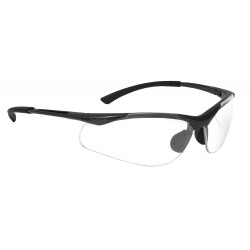Bolle Safety - 40044 - Bolle Safety 40044 Clear Lens Anti-Fog Contour Safety Glasses, Dark Gunmetal