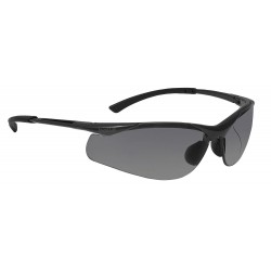 Bolle Safety - 40045 - Bolle Safety 40045 Smoke Lens Contour Anti-Fog Safety Glasses, Dark Gunmetal
