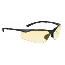 Bolle Safety - 40046 - Bolle Safety 40046 Yellow Lens Anti-Fog Contour Safety Glasses, Dark Gunmetal