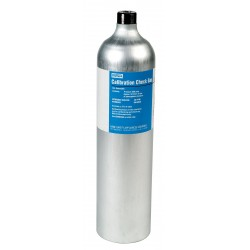 MSA - 10117738 - MSA 1.45% Methane/15% Oxygen/20 ppm Hydrogen Sulfide/60 ppm Carbon Monoxide/10 ppm Sulfur Dioxide 58 Liter Calibration Gas Cylinder For Use With ALTAIR 5X Multi-Gas Detector, ( Each )