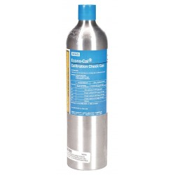 MSA - 10098855 - MSA 1.45% Methane/15% Oxygen/20 ppm Hydrogen Sulfide/60 ppm Carbon Monoxide/10 ppm Sulfur Dioxide 34 Liter Calibration Gas Cylinder For Use With ALTAIR 5X Multi-Gas Detector, ( Each )