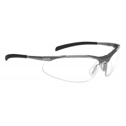 Bolle Safety - 40049 - Bolle Safety 40049 Clear Lens Anti-Fog Contour Metal Safety Glasses, Silver