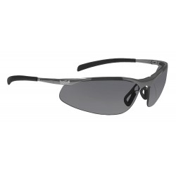 Bolle Safety - 40050 - Bolle Safety 40050 Smoke Lens Anti-Fog Contour Metal Safety Glasses, Silver