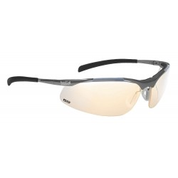 Bolle Safety - 40051 - Bolle Safety 40051 ESP Lens Anti-Fog Contour Metal Safety Glasses, Silver