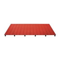 Tuftile - TT2460-WS-BRD-1 - Brick Red ADA Warning Pad, 5 ft. x 2 ft. x 13/32