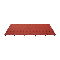 Tuftile - TT2460-WS-CRD-1 - Colonial Red ADA Warning Pad, 5 ft. x 2 ft. x 13/32