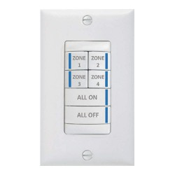 Acuity Brands Lighting - BR6 BWH PWH - Digital Wall Switch, White, Wall Installation Type