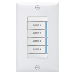Acuity Brands Lighting - BR4 BWH PWH - Digital Wall Switch, White, Wall Installation Type