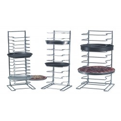 American Metalcraft - 19029 - 12 x 12 x 27-1/2 Chrome Plated Steel Pizza Rack