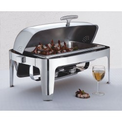 American Metalcraft - GOLDAGRT26 - Chafer, Roll Top, Stainless/Gold, 9 qt.