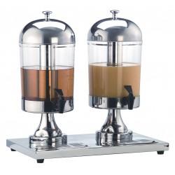 American Metalcraft - JUICE2 - (2) 8.5 qt. Double Juice Dispenser, Silver