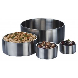 American Metalcraft - SW4 - Bowl Insulated, Silver, 2-1/2 x 5 In dia.