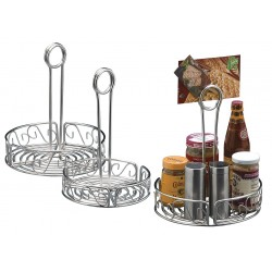 American Metalcraft - SSCC7 - Condiment Rack, Silver, 7 1/2 x 9 5/16 In.