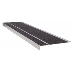 Wooster - 300BLA4 - Black, Extruded Aluminum Stair Tread Cover, Installation Method: Fasteners, 48 Width