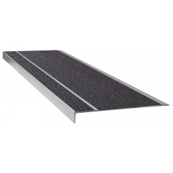 Wooster - 311BLA4 - Black, Extruded Aluminum Stair Tread Cover, Installation Method: Fasteners, 48 Width