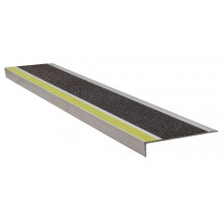 Wooster - 365YB3 - Yellow/Black, Extruded Aluminum Stair Tread Cover, Installation Method: Fasteners, 36 Width