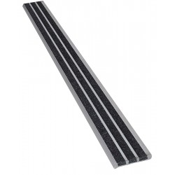 Wooster - 121BLA4 - Black, Extruded Aluminum Stair Nosing, Installation Method: Fasteners, 48 Width