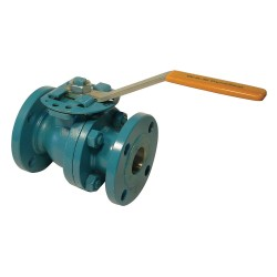 Cameron - 11/2-F-B128-CS2-43-S2-WR - Carbon Steel Flanged x Flanged Ball Valve, Lever, 1-1/2 Pipe Size