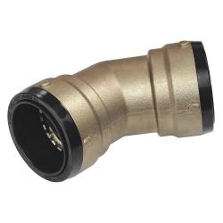 Cash Acme / Reliance - SB0541 - DZR Brass Elbow, 45