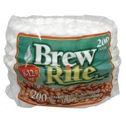 Rockline Industries - 45-201 - 2-1/4 x 3-1/4 White, Basket Style Coffee Filter; PK2400