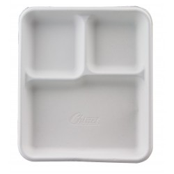 Chinet / Huhtamaki - 22023 - Molded Fiber Disposable Cafeteria Tray, White; PK500