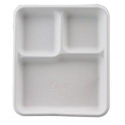 Chinet / Huhtamaki - 22023 - Molded Fiber Disposable Cafeteria Tray, White; PK500