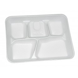 Pactiv - YTH10500SGBX - Foam Disposable Cafeteria Tray, White; PK500