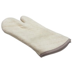 R&R Textile Mills - 01703 - 17 Heavy Duty Terry Oven Mitt, Natural